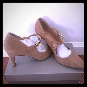 Franco Sarto Anthem Women Tan Mary Janes Heels